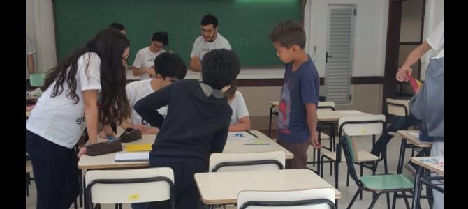 II Matematiza reúne alunos de Ensino Fundamental durante as férias para aprender de forma lúdica sobre Simetrias